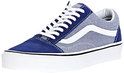 Buy Vans Old Skool (Suede & Chambray Estate) Mens Skate Shoes by Vans