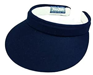 Town Talk Clip-On 3-inch Visor-Navy-05-Navy