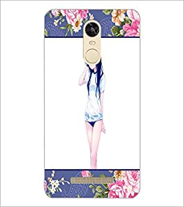 PrintDhaba Cool Girl D-1276 Back Case Cover for XIAOMI REDMI NOTE 3 (Multi-Coloured)