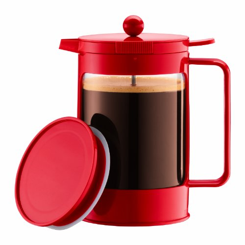 Bodum Bean Ice French Press 1-1/2 Litre Iced Coffeemaker, 51-Ounce (Red)
