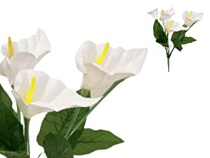 84 Silk Calla Lily Flowers For Wedding Bouquets White