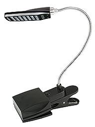 Bolkin USB or Battery Powered Flexible Clip-On Cold White 28-LED Light Bed Lamp Reading Desk Lamp for Laptop PC Notebook