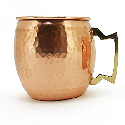 Hand Hammered Moscow Mule Mug / Cup 16 Ounce by CGPI