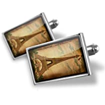 "Neonblond Cufflinks ""Paris Eiffel Tower Vintage"" - cuff links for man"
