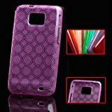 Iprotect ORIGINAL SAMSUNG GALAXY S2 I9100 CASE DUAL CIRCLE Silicon Tasche lila / purple - Hlle Galaxy S2 S 2 SII Schutzhllevon &#34;iprotect&#34;