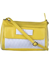 Freppy Pu Leather Women's Sling & Cross-Body Bag - 4 Colors Available (Green, Yellow, Red, Black)