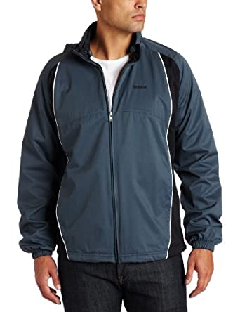 Reebok Men's Active Woven Jacket (XX-Large,Paynes Grey/Black)