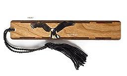 Bald Eagle - Bird Wooden Bookmark with Tassel