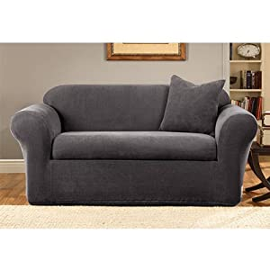 On Sale Sure Fit Stretch Metro 2 Piece Sofa Slipcover Gray Embenhatoi