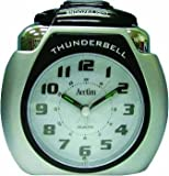 Acctim Thunderbell 13007 Alarm Clock Large Silver Very Loud