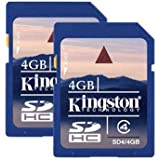 Kingston 4 GB Class 4 SDHC Flash Memory Card 2-Pack SD4/4GB-2P