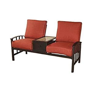 Courtyard creations kfs8836 graystone jack and jill for Comfortable lawn furniture