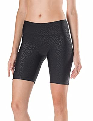 "Baleaf Women's 7"" Compression Bike Fitness Running Shorts Back Pocket"