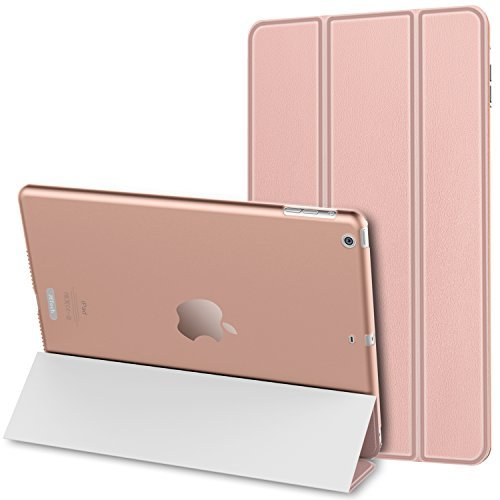 JETech Gold Serial iPad Air Slim Fit Smart Case Cover Custodia per Apple iPad Air iPad 5 con funzione auto sonno / sveglia (Oro Rosa) - 0469D