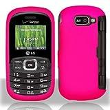 Pink Hard Plastic Rubberized Case Cover for LG Octane VN530