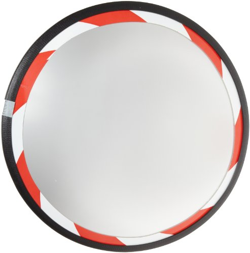 "See All Plxo18Rt Convex Mirror, Acrylic Plastic Face, High Visibility Edge, Outdoor Use, 18"" Diameter front-719226"