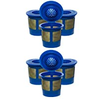 6X Premium Gold Tone Reusable Single Cup Keurig Solo Filter Pod Coffee