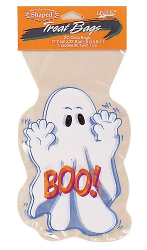 Creative Converting 20 Count Ghost Cello Treat Bags