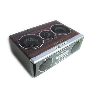 Gaorui Su12 Mini Sound Box Mp3 Player Mobile Speaker with Fm Radio Sd Card Reader Usb