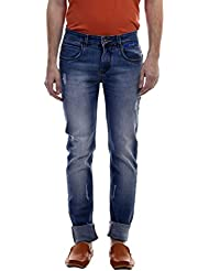 Raux Men's Light Blue Slim Fit Sretchable Jeans