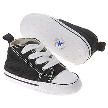 Converse First Star Crib Infant 8J231 (3, Black/Wt)