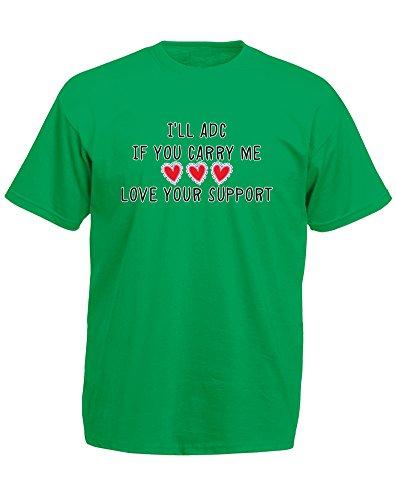 love-your-support-imprime-des-hommes-t-shirt-vert-noir-transfert-xl-111-116cm