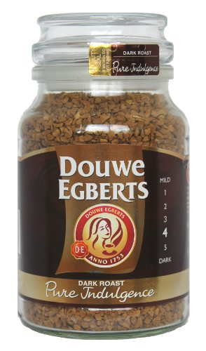 Douwe Egberts Pure Indulgence Instant Coffee in Jar, Dark Roast, 7.05-Ounce, 200 gram