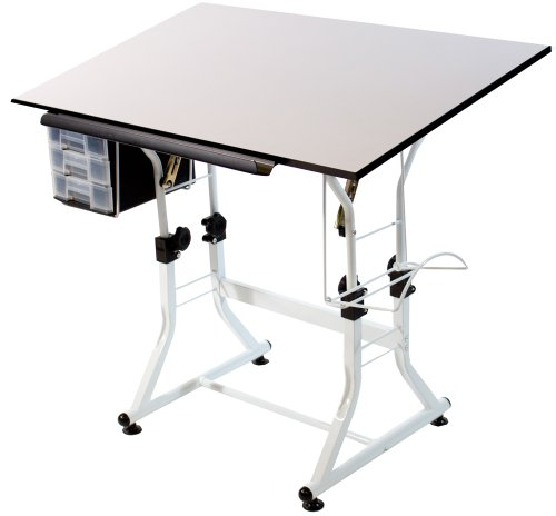 Martin Ashley Creative Table (without Stool) White Base with White Top