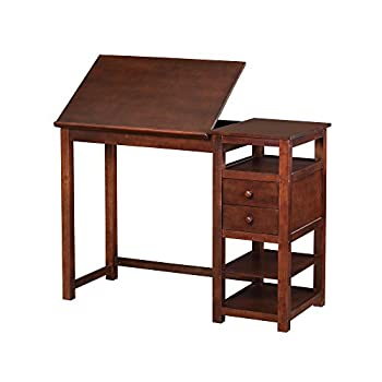 Dorel Living Drafting and Craft Counter Height Desk, Espresso