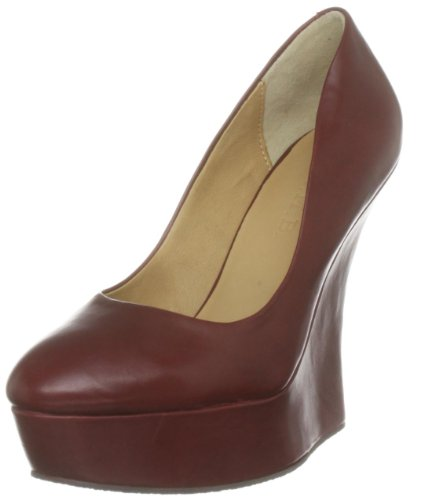 LAMB Women's Novice Burgundy Wedges Heels G1665 6 UK, 8 US