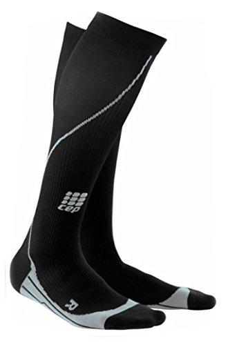 CEP Compression WP41532 CEP Womens Running Progressive Compression Socks - Size- II -9.5-12.25 in. calf, Color- Black