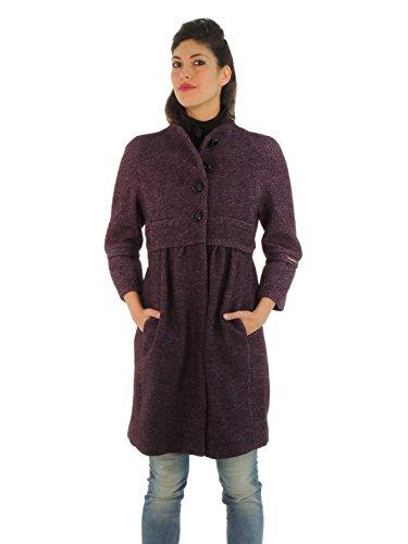 Liu Jo cappotto donna monopetto in lana C62268T1046 (42, VIOLA)