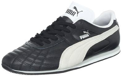 PUMA Men's Mexico Lace-Up Fashion Sneaker,Black/White,7 D US
