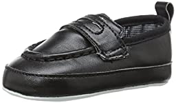 Luvable Friends Boy\'s Slip-on Shoe (Infant), Black, 0-6 Months M US Infant