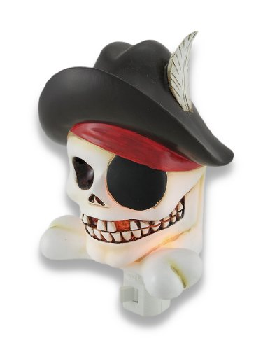 Cool Pirate Skull and Crossbones Childrens Night Light Nite Lite
