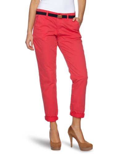 Esprit Basic Chino Women's Trousers Market Red