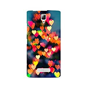 Ebby Blurry Hearts Premium Printed Case For Lenovo A2010