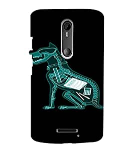 PrintVisa Funny Dog Design 3D Hard Polycarbonate Designer Back Case Cover for Motorola Moto X3