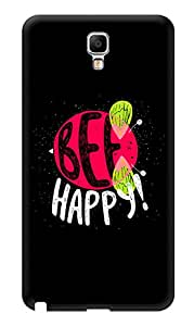 "Humor Gang Be Happy Bee Quote Printed Designer Mobile Back Cover For ""Samsung Galaxy Note 3"" (3D, Glossy, Premium Quality Snap On Case)"
