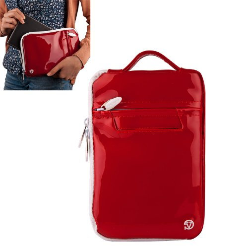 Vangoddy Select 7 Inch Red Gloss Hydei Thrive Clutch Bag For The Toshiba , 7 , Led , Backlight , Lcd , Wifi Model!!!