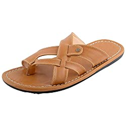 HUZ HIDES Mens Tan Synthetic Slipper (10UK)