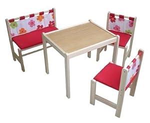roba 5017r ba dv kindersitzgruppe bestehend aus 2 st hlen 1 tisch und 1 bank sitz. Black Bedroom Furniture Sets. Home Design Ideas