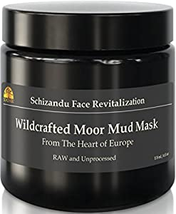 Wildcrafted Moor Mud Mask. Daily Beauty Sulfur Mask for Skin Cleanse Detox-NO ADDITIVES. Skin Rejuvenation and Cellular Regeneration with Fulvic Acid. Hydrating, Stimulating Natural Facial Treatment.