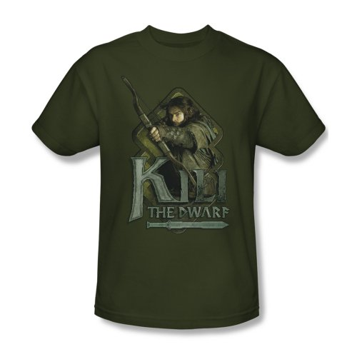 The Hobbit Desolation of Smaug Movie Kili Pose Adult T-Shirt Tee