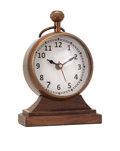 Beth Kushnick Clock with Wood Base