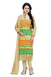 JHEENU Cotton Embroidered Salwar Suit Dupatta Material