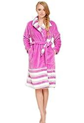 Women's Bathrobe Robe Purple Cotton Long Sleeve Women