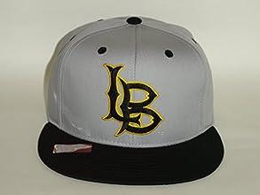 NCAA Long Beach State 49ers Logo 2 Tone Grey Black Snapback Cap