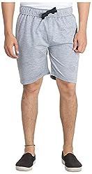 Broche Men's Cotton Shorts (Broche9010-L, Grey, Large)