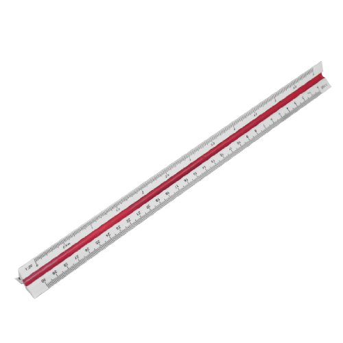 uxcell Engineer Plastic Triangular Scale Ruler 1:20 1:25 1:50 1:75 1:100 1:125 (Engineers Scale 25 compare prices)